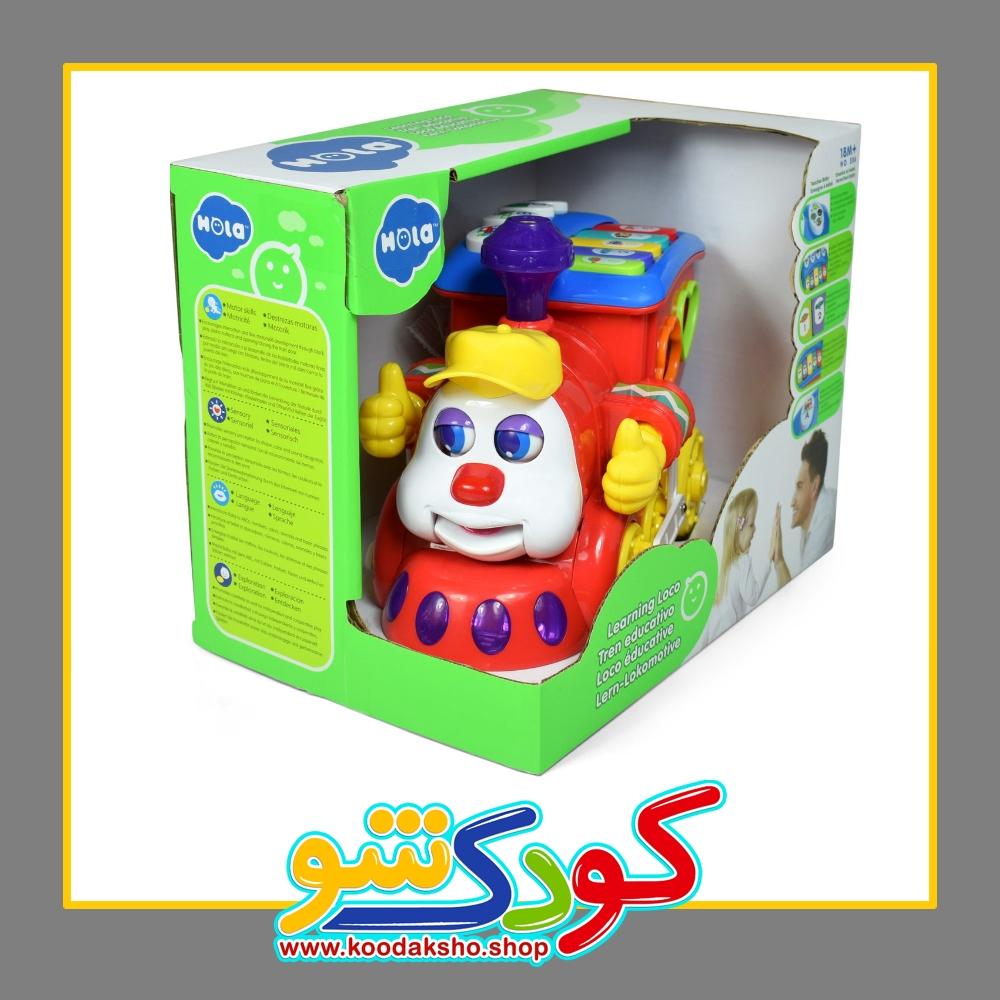 تصویر قطار موزیکال و آموزشی Huile toys هویله تویز 556