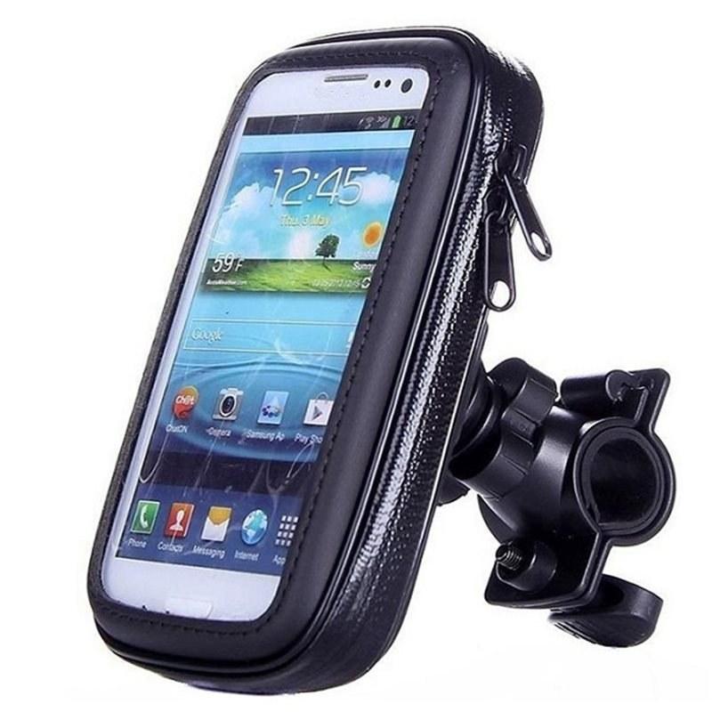 تصویر پایه نگه دارنده گوشی موبایل مدل کیفی مناسب برای موتور و دوچرخه