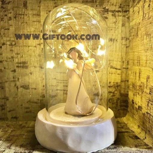 تندیس چراغدار مجسمه فرشته داخل شیشه