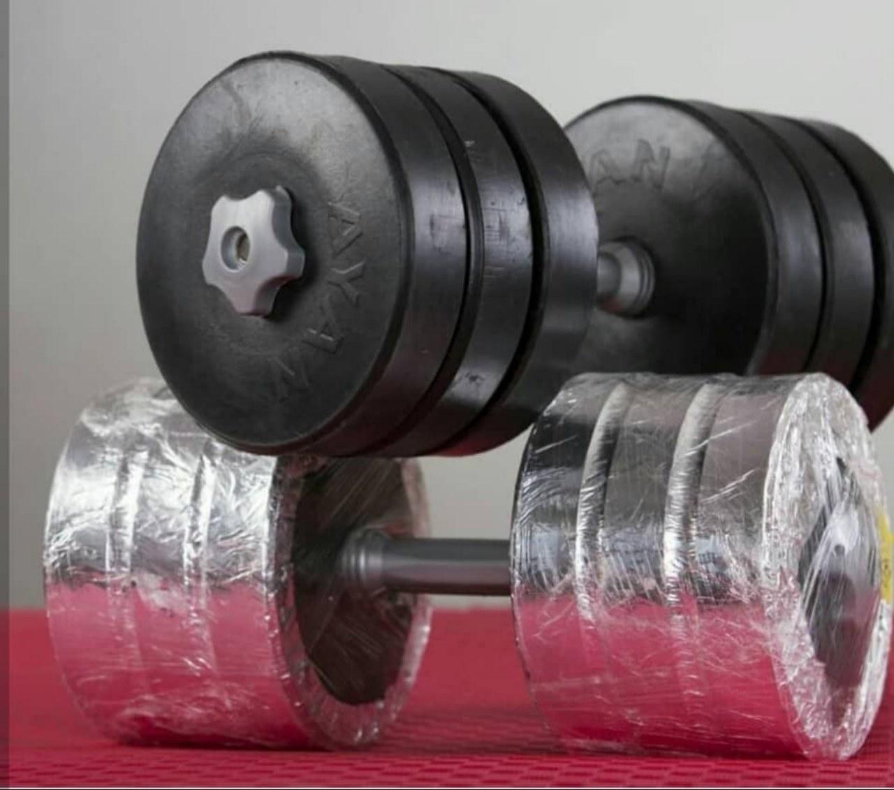 دمبل لاستیکی متغییر (جمعا 25 کیلو) + *ارسال رایگان*