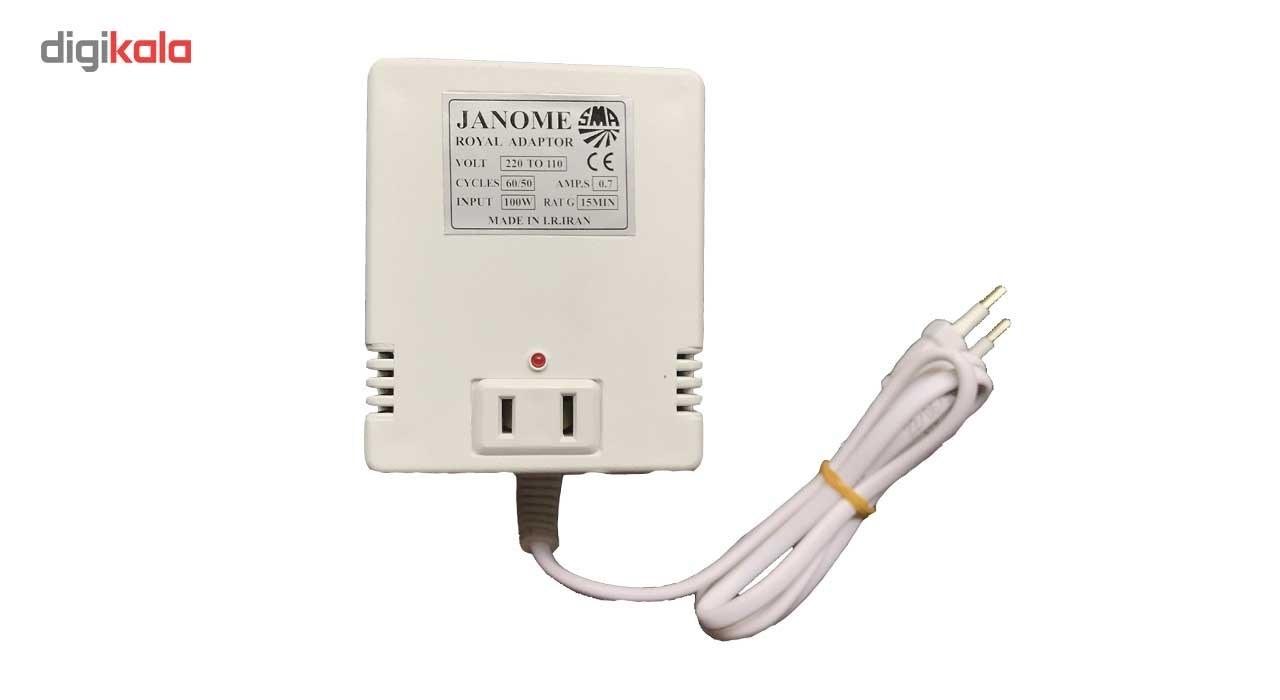 img آداپتور تبدیل 220 به 110 ولت ژانومه مدل 100 وات Janome Royal Adaptor 220 v to 110 v