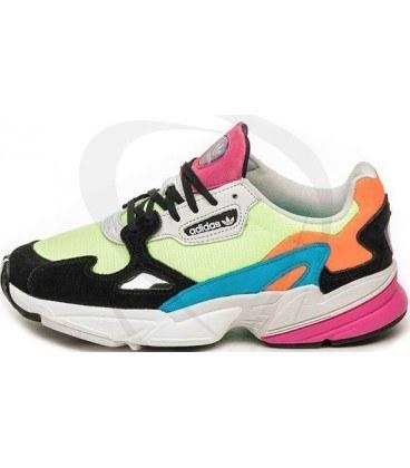 کفش رانینگ زنانه آدیداس فالکون Adidas W Falcon Hi Res Yellow Core Black Neon