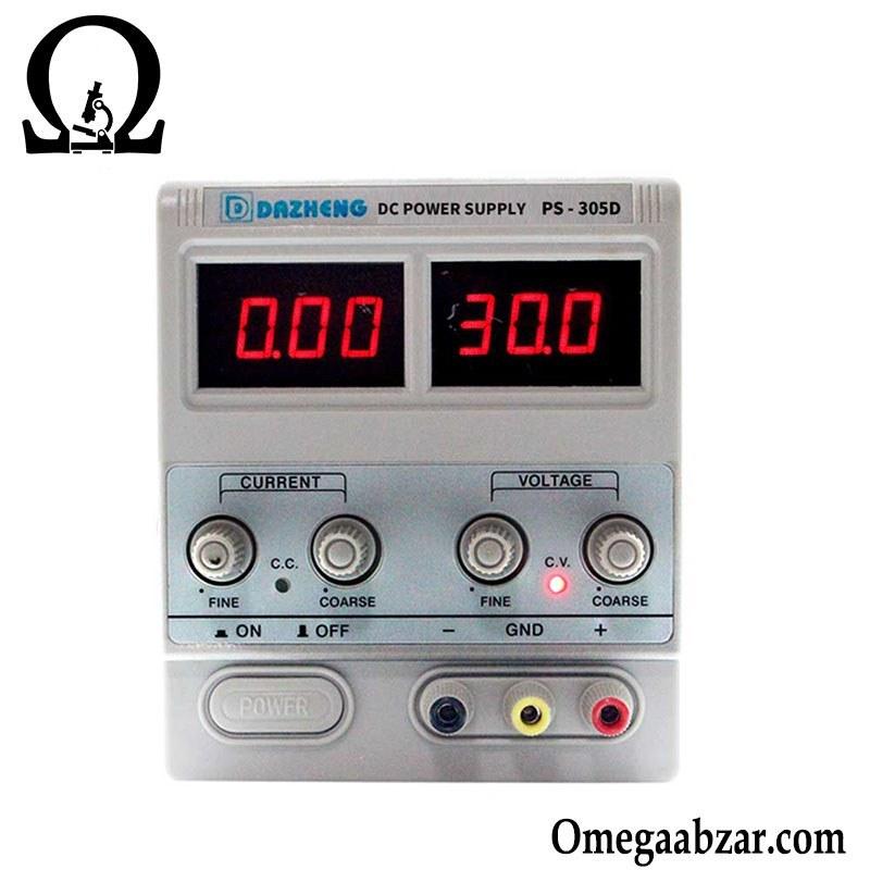 منبع تغذیه 30 ولت 5 آمپر داژنگ DAZHENG PS-305D