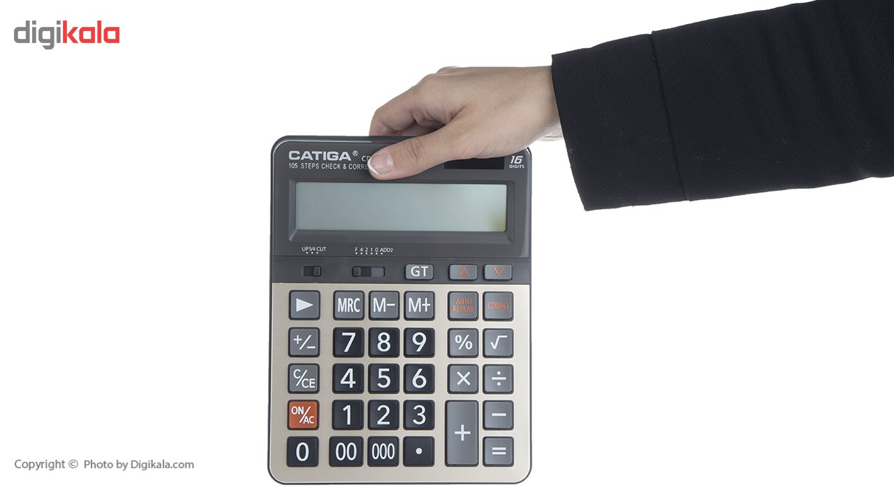 تصویر ماشین حساب کاتیگا مدل Catiga CD-2753-16RP Catiga CD-2753-16RP Calculator