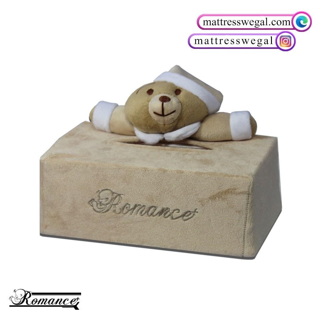 تصویر جا دستمال کاغذی مدل خرس رومنس