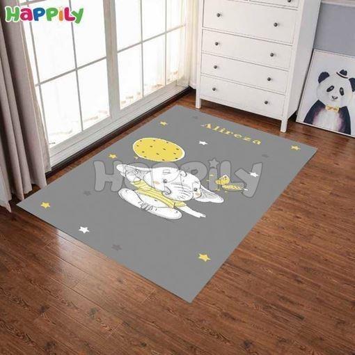تصویر فرش اتاق کودک طرح فیل کوچولو 52310