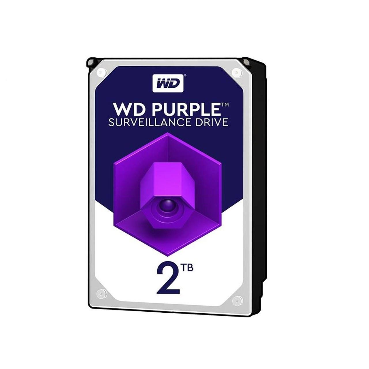 تصویر هارد وسترن دیجیتال Purple 2TB با گارانتی 24 ماهه اصلی