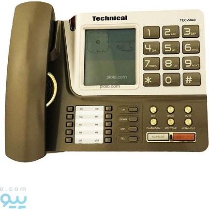 تصویر تلفن تکنیکال مدل TEC-5840