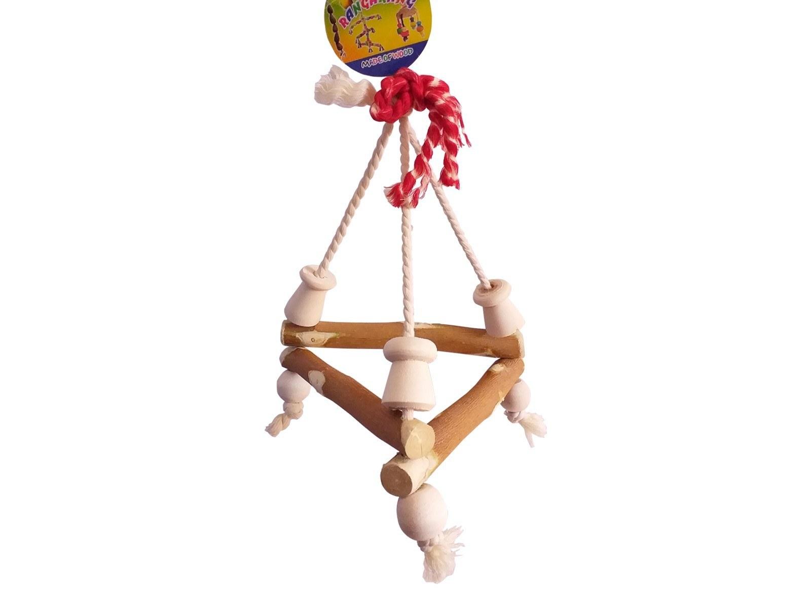 تصویر اسباب بازی تاب طوطی سانان و پرندگان - بازی چوبی تاب مدل 2082