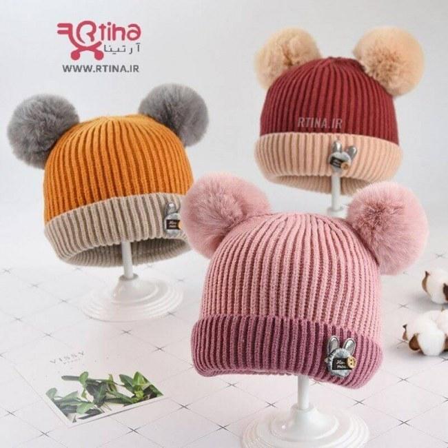 عکس کلاه فانتزی زمستانی بچه گانه مدل handmade  کلاه-فانتزی-زمستانی-بچه-گانه-مدل-handmade