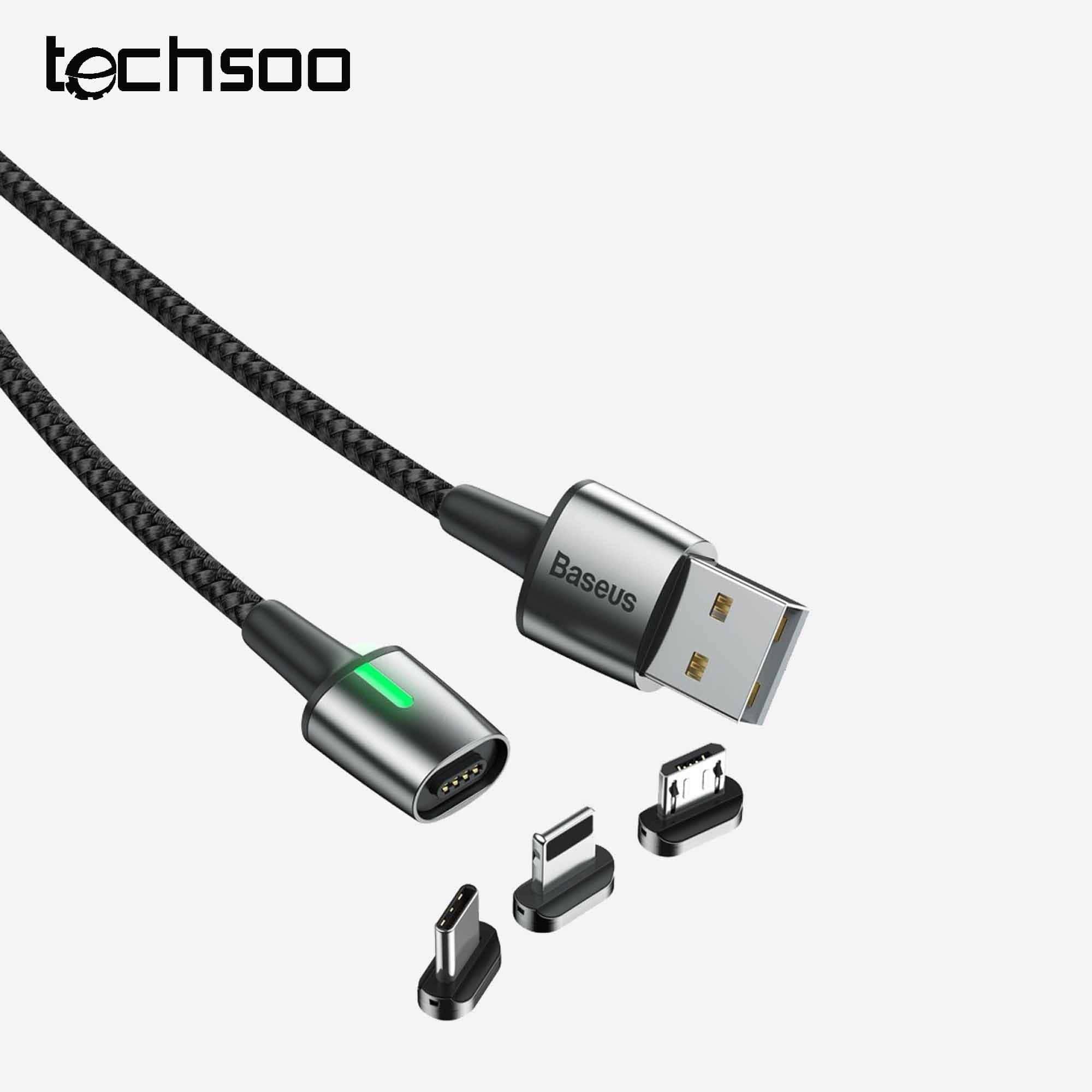 تصویر سر کابل مگنتی لایتنینگ بیسوس Baseus Calxc-e iP Magnetic adapter