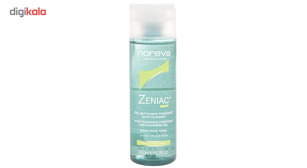 img ژل پاک کننده زنیاک نوروا NOREVA Zeniac High Tolerance Purifying And Cleansing Gel