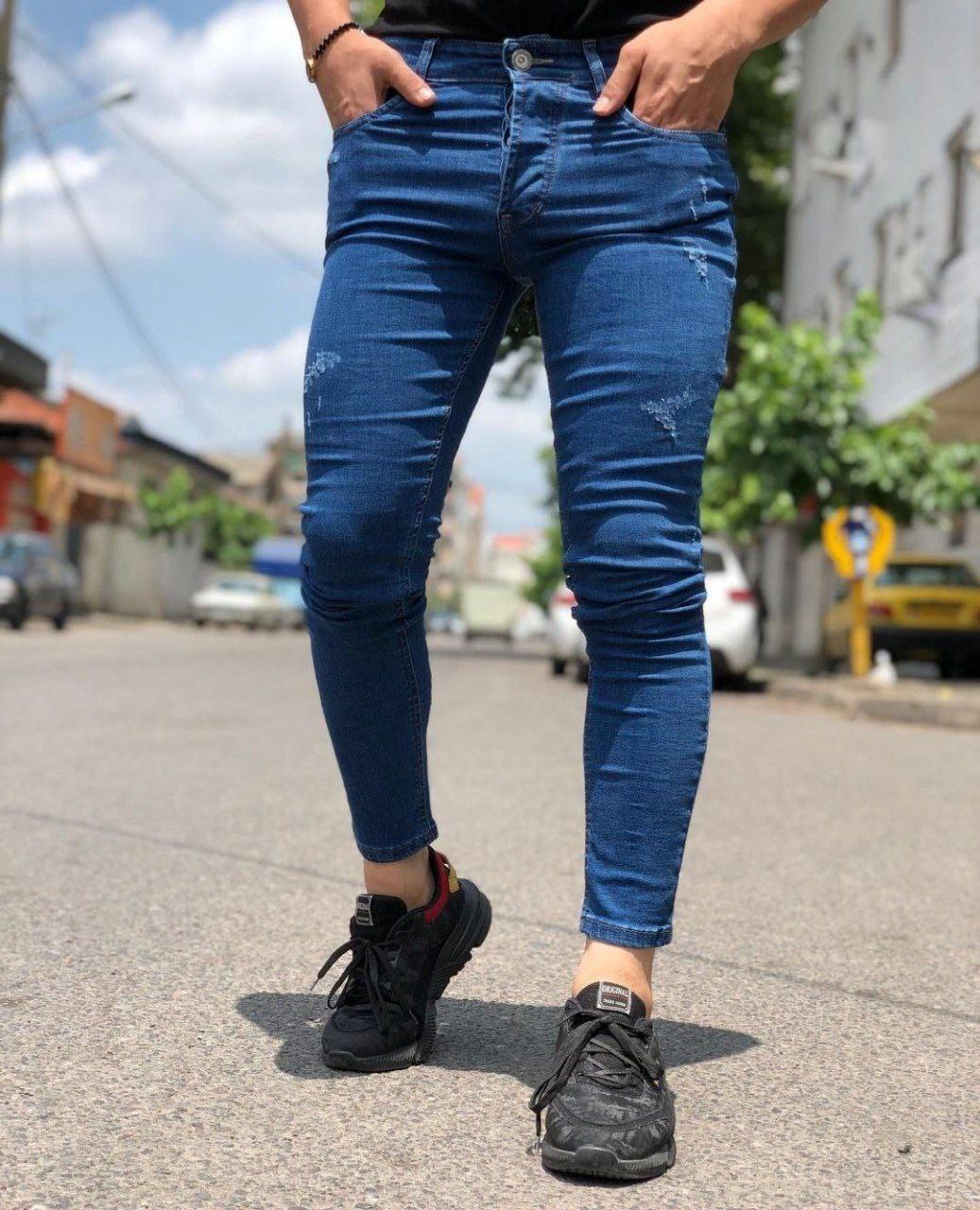 تصویر شلوار جین آبی زاپ دار مردانه جدید و خاص و خیره کننده - 30