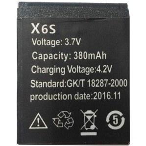 تصویر باتری اسمارت واچ مدل X6S
