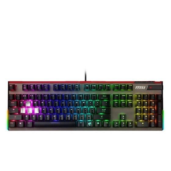 تصویر کیبورد مخصوص بازی مکانیکی ام اس آی مدل Vigor GK80 SILVER MSI Vigor GK80 SILVER Mechanical Gaming Keyboard