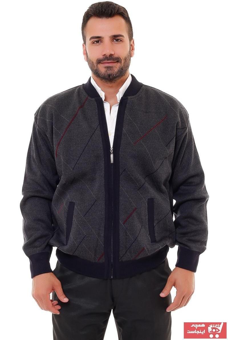 تصویر خرید اینترنتی ژاکت بافتی مردانه جدید برند KARBEY TRİKO رنگ لاجوردی کد ty47635079
