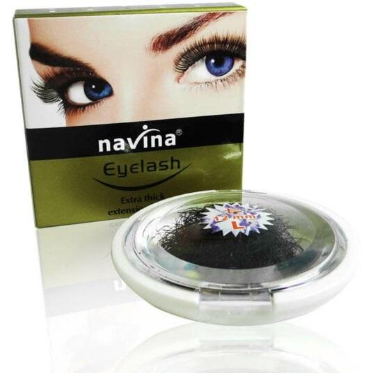 تصویر مژه طبیعی کاشت navina