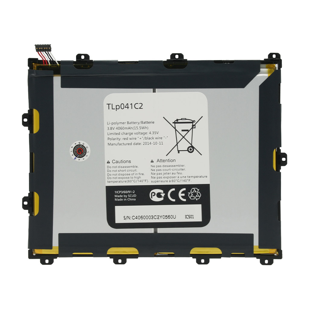 تصویر باتری اورجینال تبلت آلکاتل TLp041C2 ظرفیت 4060 میلی آمپر ساعت Alcatel TLp041C2 4060mAh Original Battery