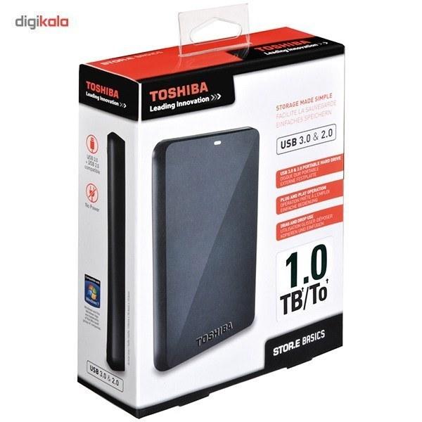 تصویر هاردديسک اکسترنال توشيبا مدل Stor.e Basics ظرفيت 1 ترابايت Toshiba Stor.e Basics External Hard Drive - 1TB