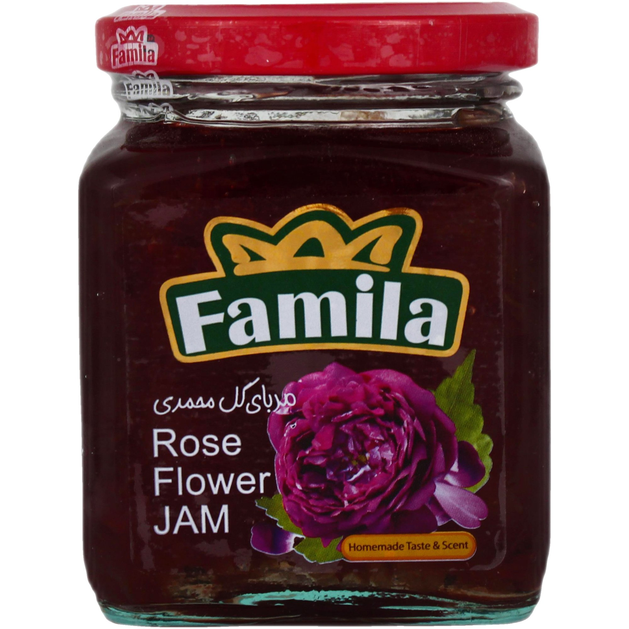 تصویر مربا گل سرخ فامیلا 300 گرمی -