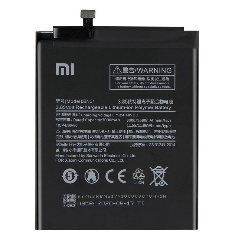 تصویر باتری موبایل اورجینال Xiaomi Mi 5X BN31 Xiaomi Mi 5X BN31 Original Battery