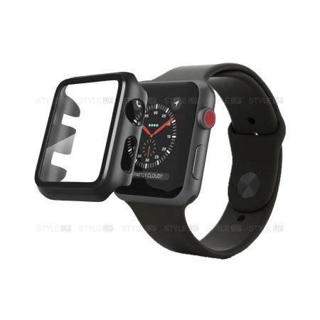 تصویر کاور ساعت اپل واچ Apple Watch 42mm مدل 360 Apple Watch 42mm PC Case With Screen Protector