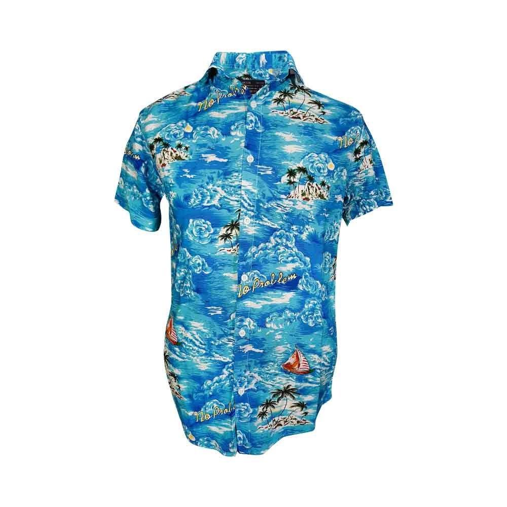تصویر پیراهن هاوایی سایز بزرگ 124150-15