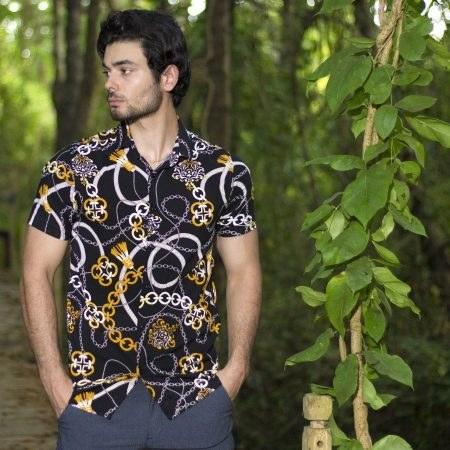 پیراهن هاوایی طرح زنجیر