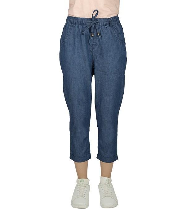 شلوار جین کوتاه کمر کشی زنانه جین وست Jeanswest