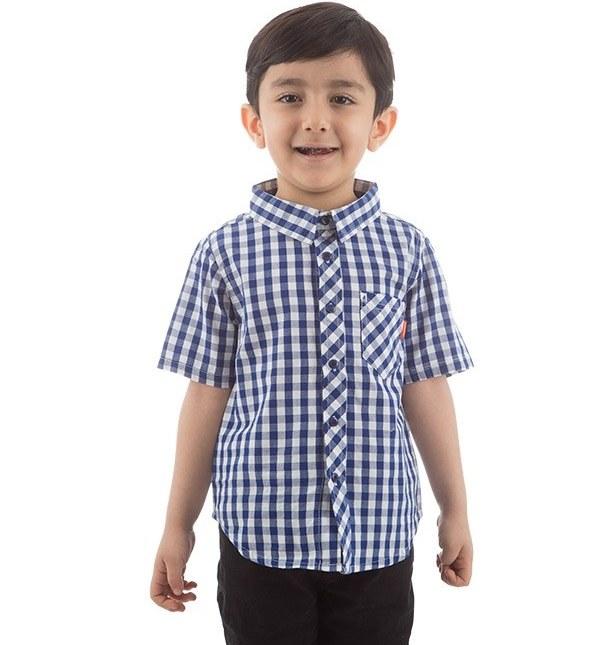 پیراهن آستین کوتاه پسرانه جین وست