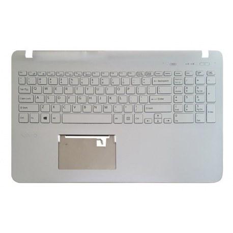 تصویر کیبورد لپ تاپ سونی SVF152-153 سفید-با قاب C