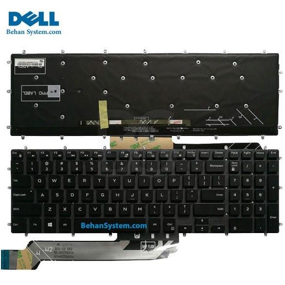 تصویر کیبورد لپ تاپ Dell مدل Inspiron 5575 به همراه لیبل کیبورد فارسی جدا گانه