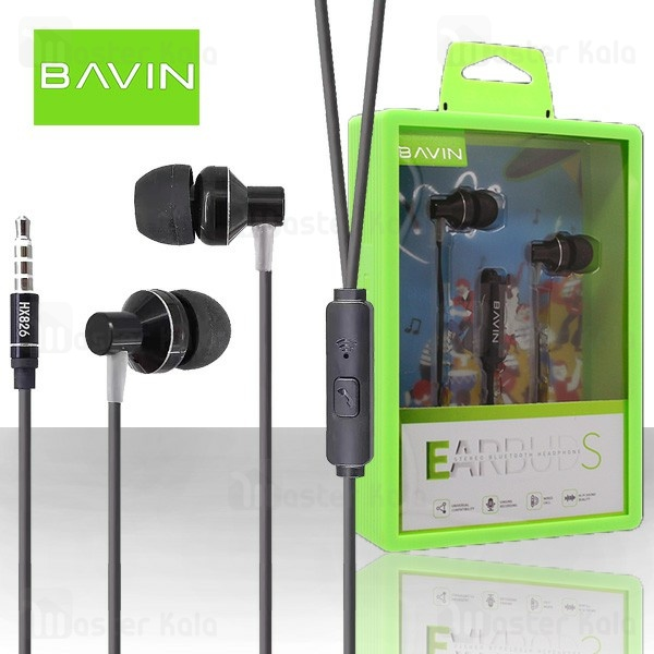 هندزفری سیمی باوین Bavin HX826 Stereo Earbuds Headphone
