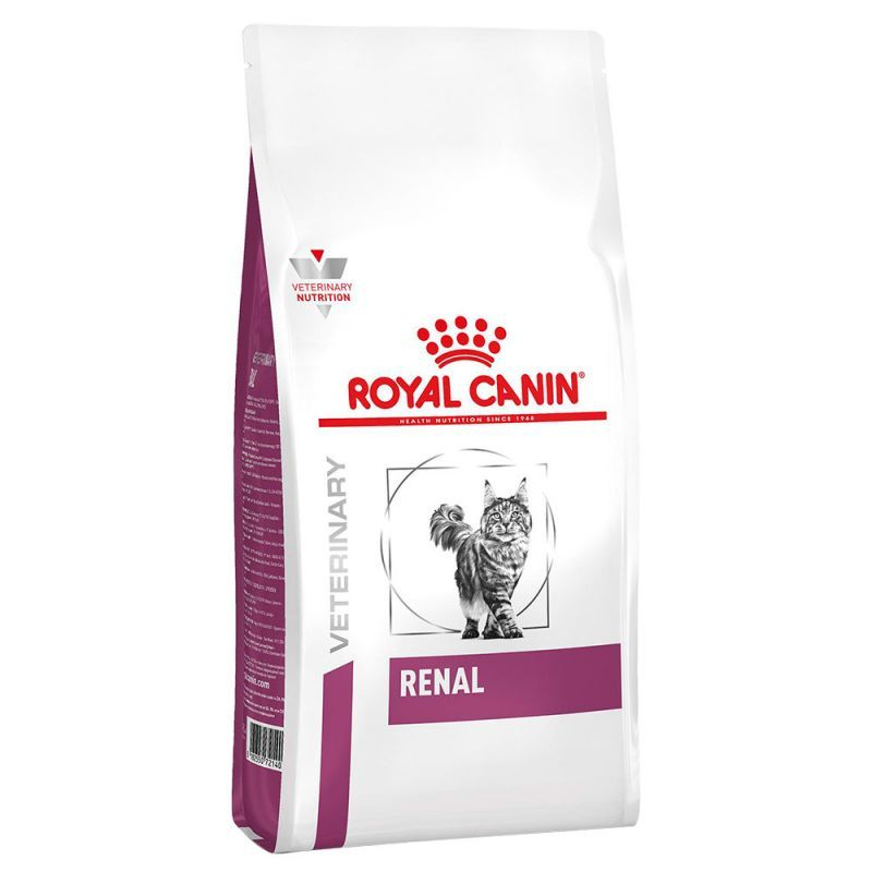 تصویر غذای خشک گربه رویال کنین مدل رنال Renal وزن 2 کیلوگرم Royal Canin RENAL FELINE DRY