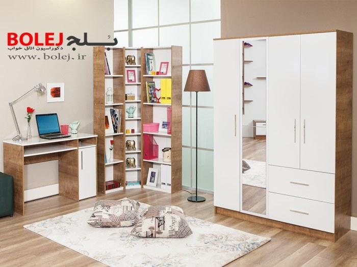 مدل میز تحریر،کتابخانه و کمد لباس ST802