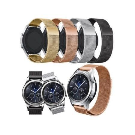 بند فلزی بافت دار ساعت هوشمند سامسونگ گیر اس 3 فرانتیر و کلاسیک | Samsung Gear S3 Frontier and Classic - R760, R770 Metal Texture Wrist Strap