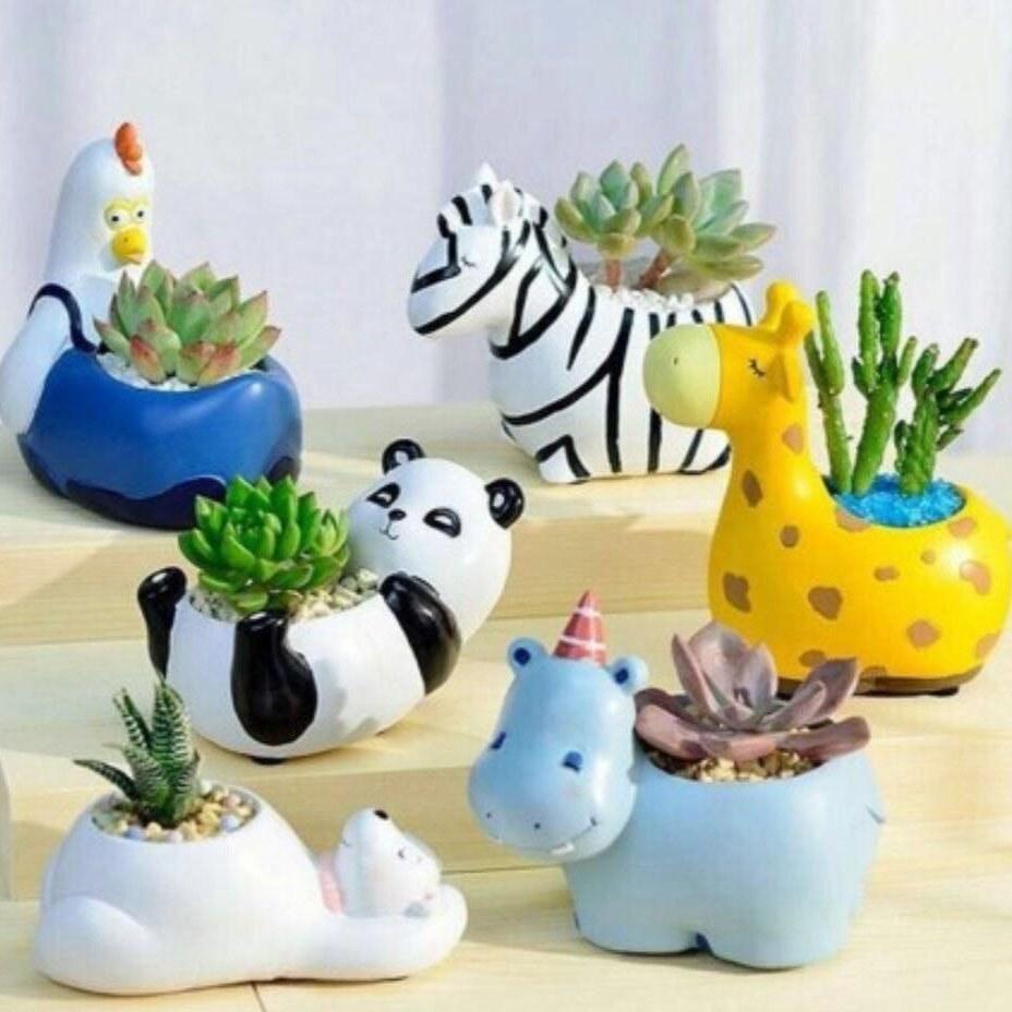 تصویر گلدان های فانتزی حیوانات