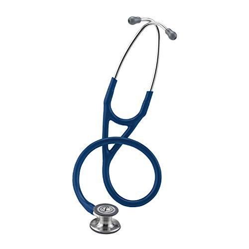 تصویر استتوسکوپ تشخیصی 3M Littmann Cardiology IV، سینه بند استاندارد، لوله آبی نیروی دریایی، ساقه و هدست ضد زنگ، 27 اینچ، 6154 3M Littmann Cardiology IV Diagnostic Stethoscope, Standard-Finish Chest Piece, Navy Blue Tube, Stainless Stem and Headset, 27 Inch, 6154