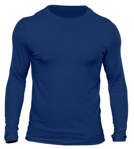 تیشرت آستین بلند مردانه رنگ آبی تیره