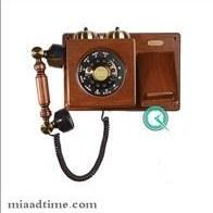 تصویر تلفن دیواری چوبی مایر کد HT06