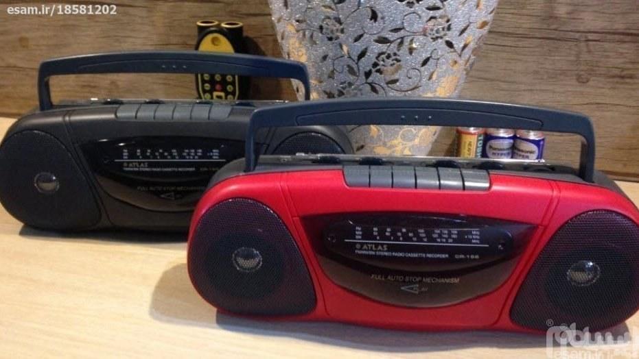 رادیو ضبط اتلس سنگینو با کیفیت تمام قطعات ژاپنی