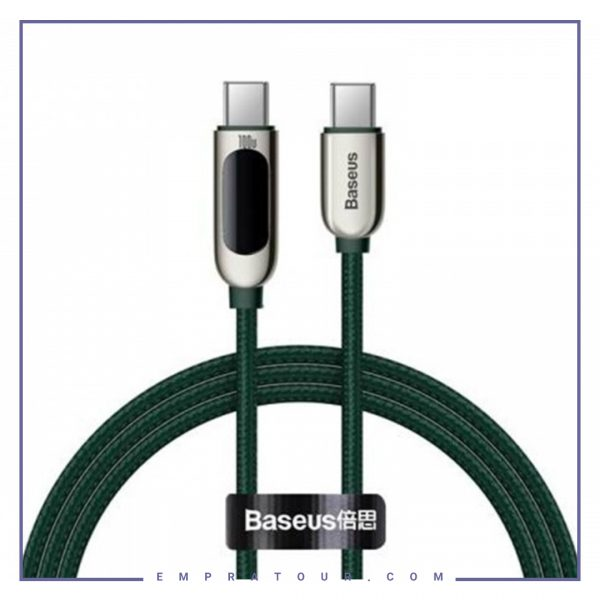 تصویر کابل شارژ Type C به Type C بیسوس Baseus Display Fast Charging CATSK-B06