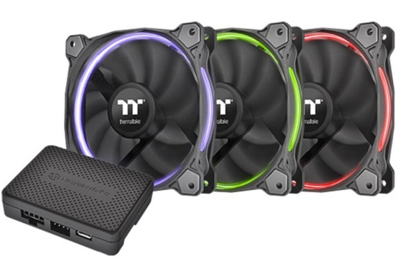 بسته ۳ تایی فن کیس ترمالتیک مدل رینگ ۱۴ آر جی بی TT Premium Edition | Thermaltake Riing 14 RGB Fan TT Premium Edition 140mm 3 Case Fan Pack