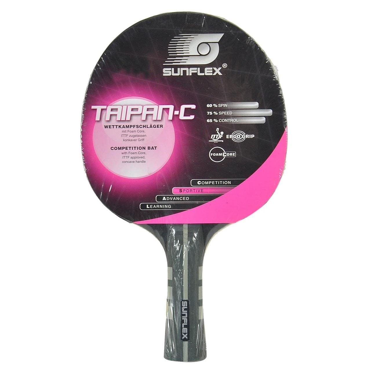 راکت پينگ پنگ سان فلکس مدل TAIPAN-C Level 600 | Sunflex TAIPAN-C Level 600 Ping Pong Racket