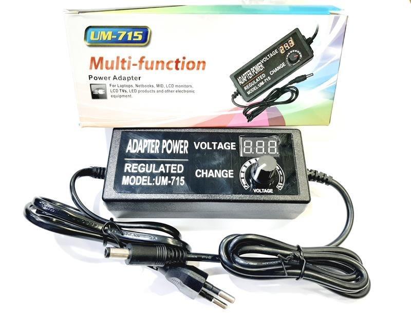 تصویر شارژ متغیر 3ولت تا 24 ولت (3 آمپر)UM-715 UM-715 DC:3V-24V   3A