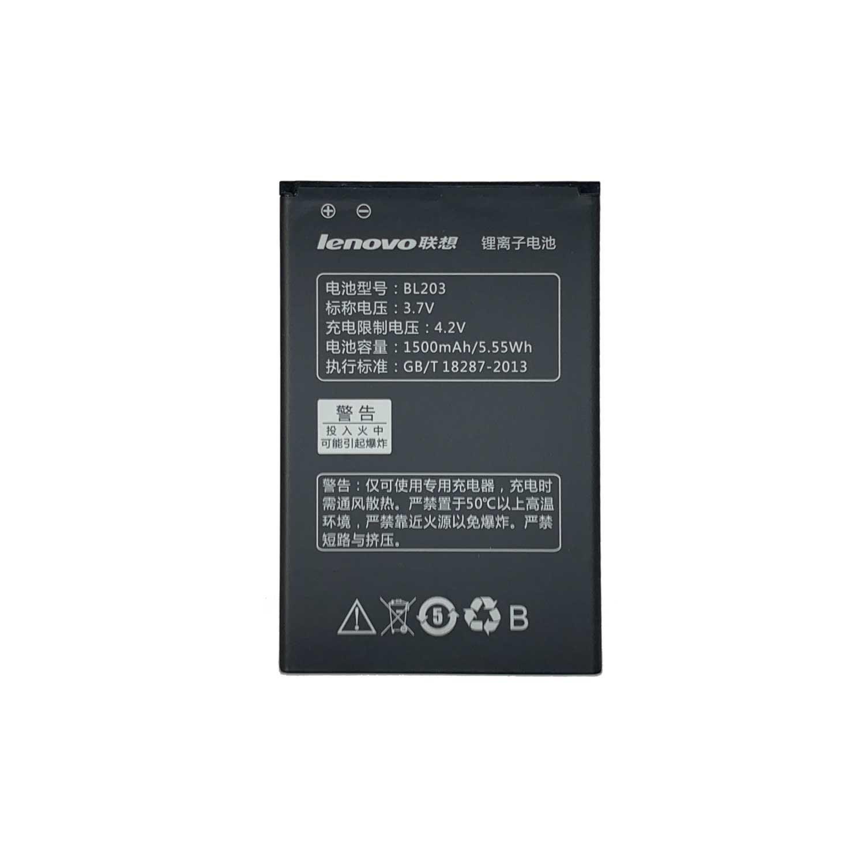 تصویر باتری موبایل لنوو Lenovo A278T A308T A318T A365E A369i A66 با کد فنی BL203