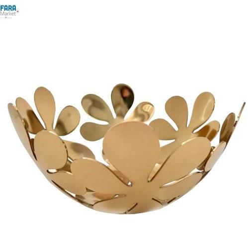 تصویر ظرف میوه خوری طرح گل کد 1346