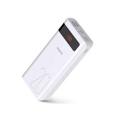 تصویر پاور بانک Romoss مدل Sense 6PS+ PSN20 با ظرفیت 20000 میلی آمپر