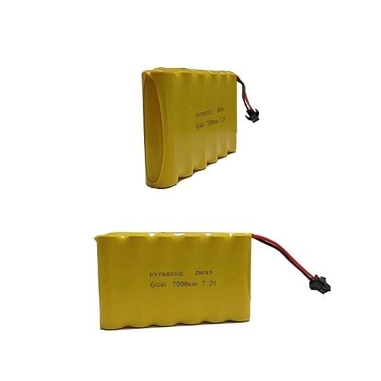تصویر باتری اسباب بازی 7.2 ولت شارژی 7000ma مدل 6xAA