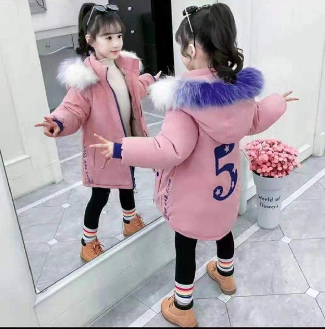 تصویر کاپشن خزدار نوجوان 12 الی 20 سال(دخترانه) کد0101205